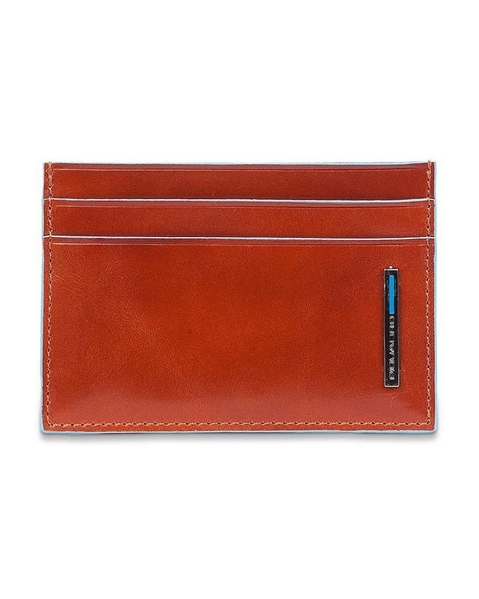 PIQUADRO - Porta carte di credito e biglietti da visita - Arancio - Blue Square - PP906B2/AR