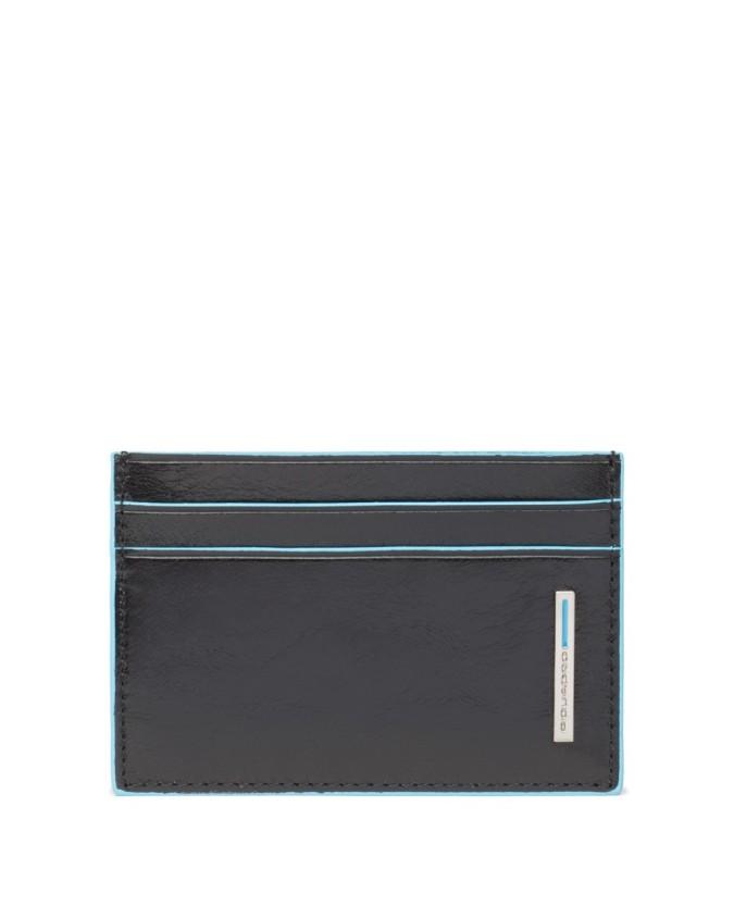 Piquadro Blue Square Porta carte di credito e biglietti da visita Nero - PP906B2/N