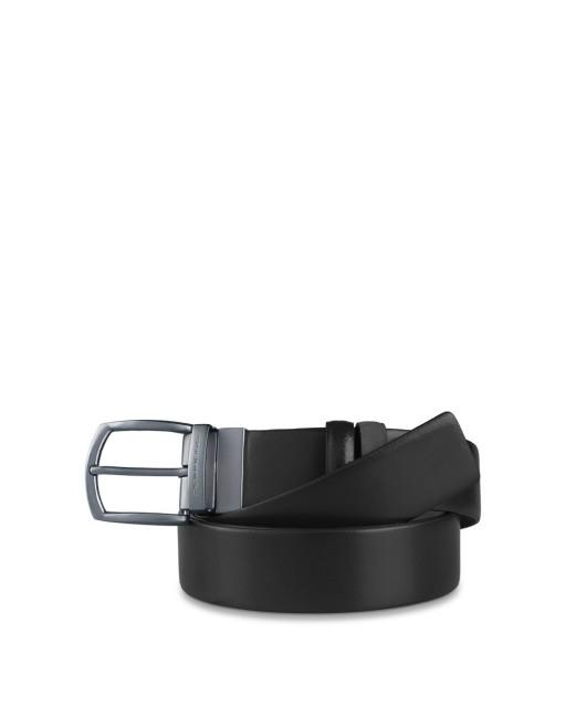 PIQUADRO - Cintura reverse 35mm con fibbia liscio - Nero -