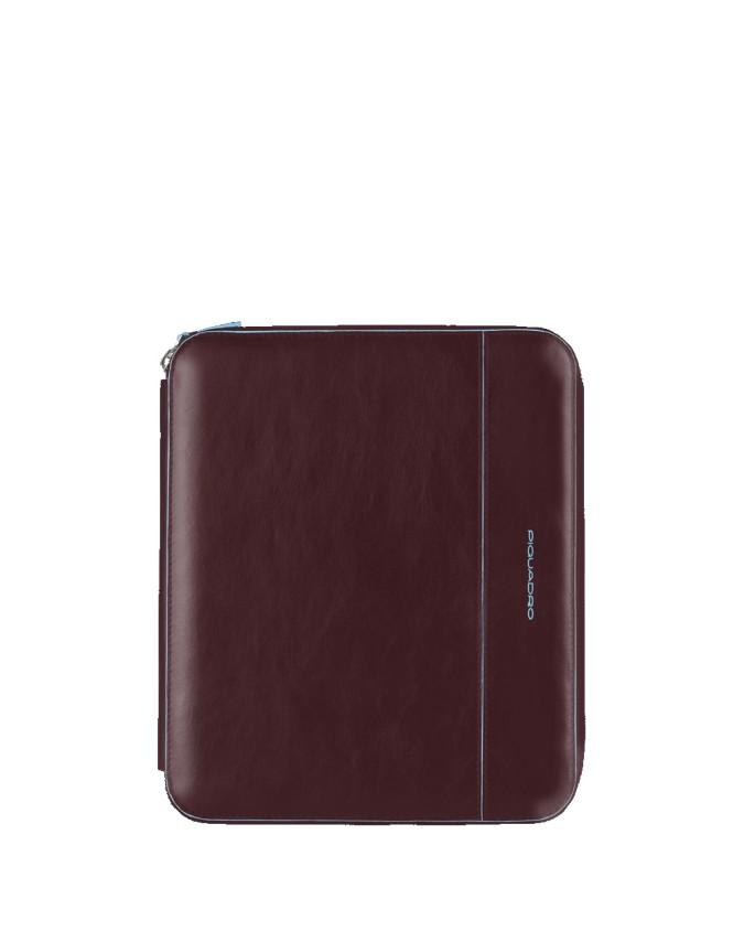 PIQUADRO - Custodia per iPad con tracolla in pelle - Mogano -