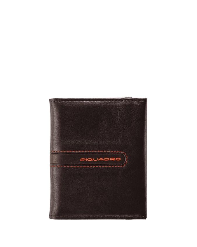 PIQUADRO - Porta carte di credito tascabile in pelle -