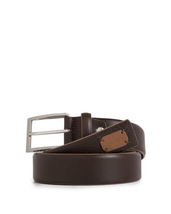 PIQUADRO - Cintura 35mm in pelle - Marrone - CU3898C52/M