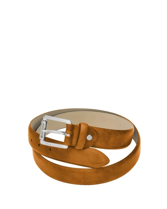 PIQUADRO - Cintura con fibbia ad ardiglione altezza 35mm -