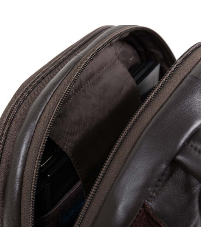 PIQUADRO - Zaino piccolo in pelle - Blu - CA1886X2/BLU