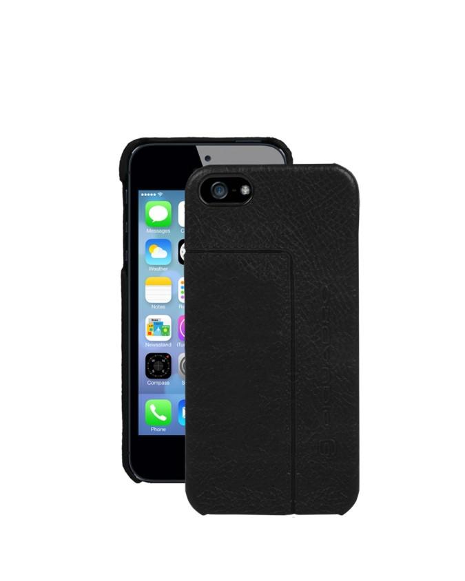 PIQUADRO - Custodia per iPhone 5C a guscio in pelle - Nero -
