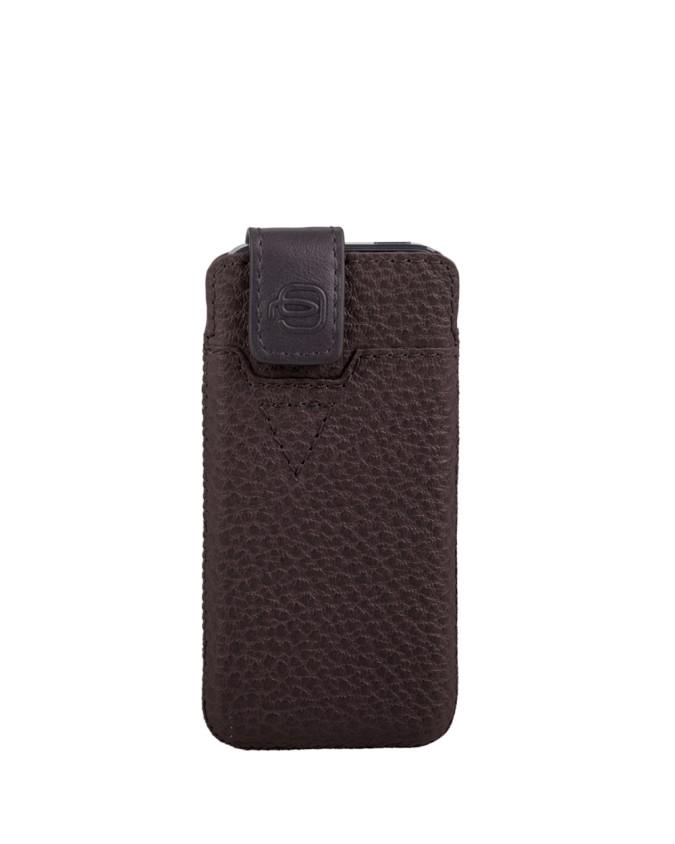PIQUADRO - Custodia iPhone 5 ® e 5S ® morbida in pelle - Testa