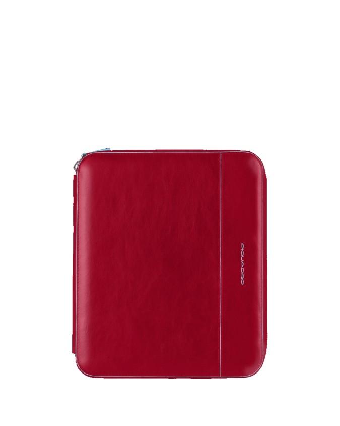 PIQUADRO - Custodia per iPad con tracolla in pelle - Rosso -